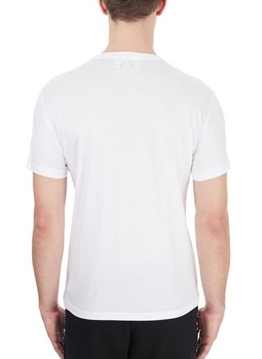 EA7 Emporio Armani  Baskılı Bisiklet Yaka % 100 Pamuk T Shirt Erkek T Shırt 6Hpt51 Pjm9Z 1100 Beyaz